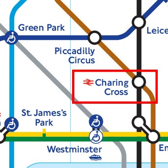 Charing Cross Tube Map