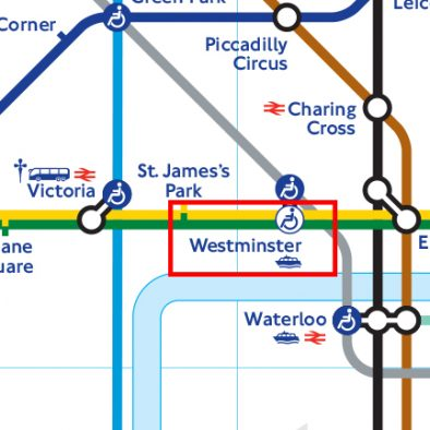 Westminster Station Tube Map