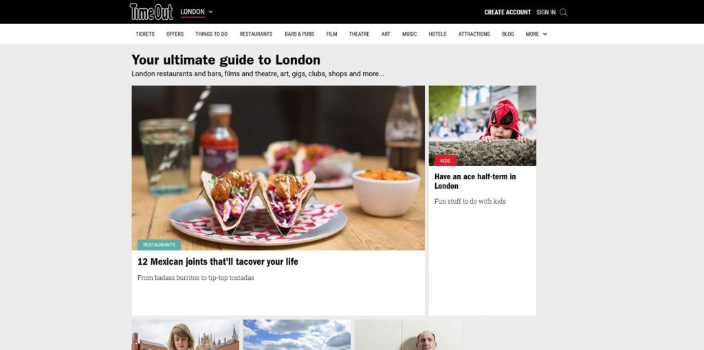 Time Out London Website