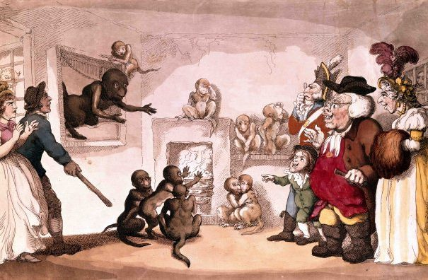 Cartoon of the Tower of London Menagerie Thomas Rowlandson 1799