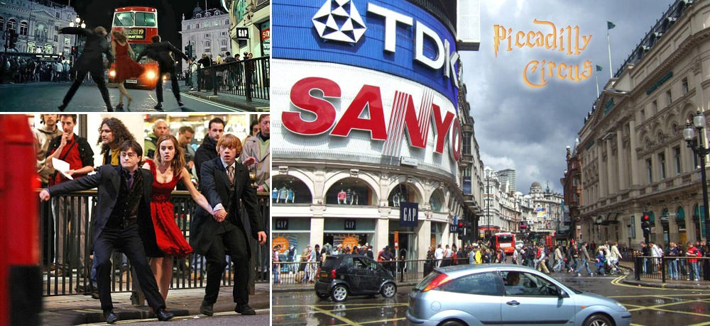 Harry Potter Piccadilly Circus Filming Location