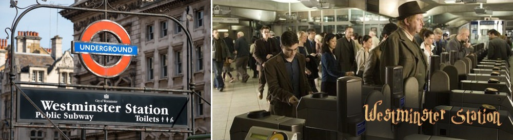 Harry Potter Westminster Tube Station filming location