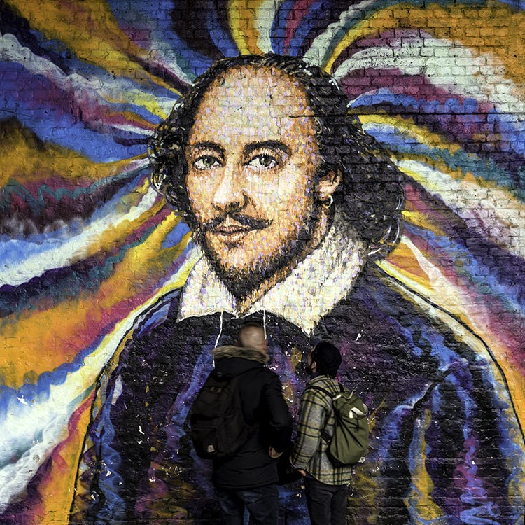 Shakespeare Wall Art Click Street South Bank London