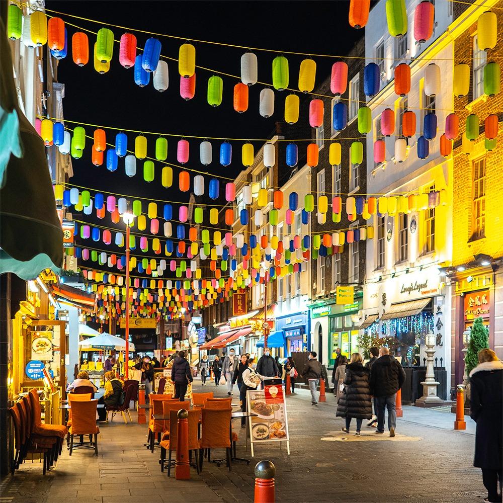 London Chinatown at night