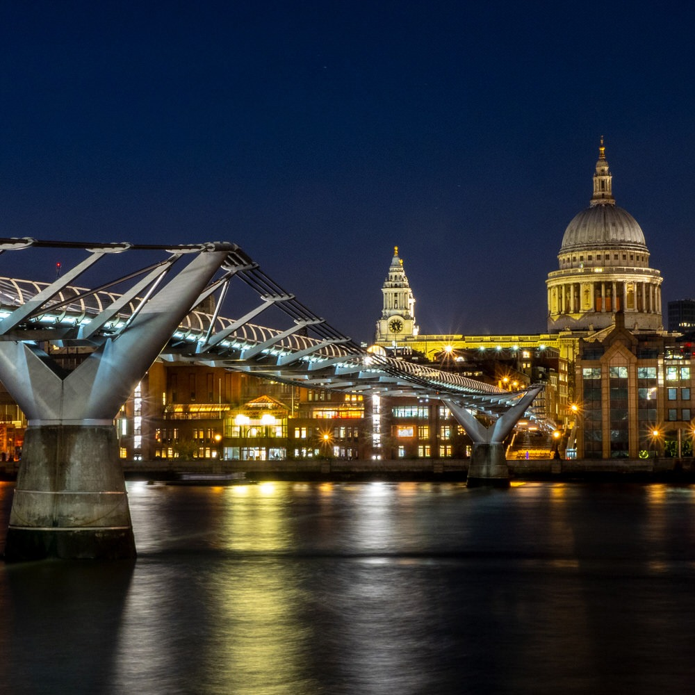 St Pauls Catherdral and the Millennium Bridge
