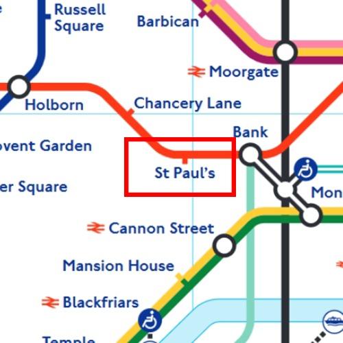 St Paul's Tube Station Map